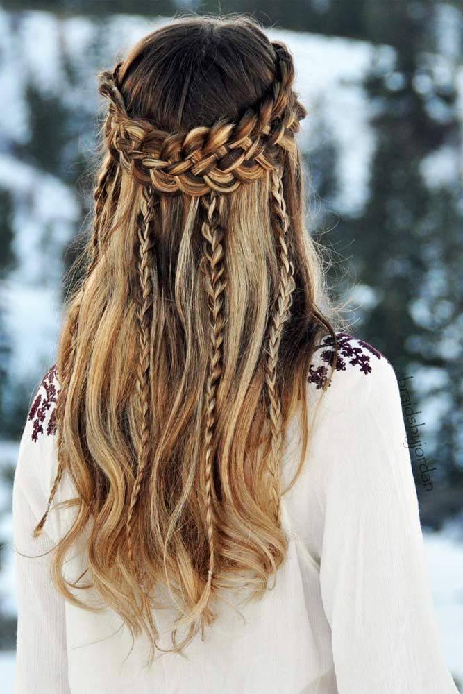 coiffure cheveux en hiver