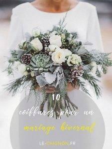 Se marier en hiver  – 10 Inspirations coiffures  hivernales