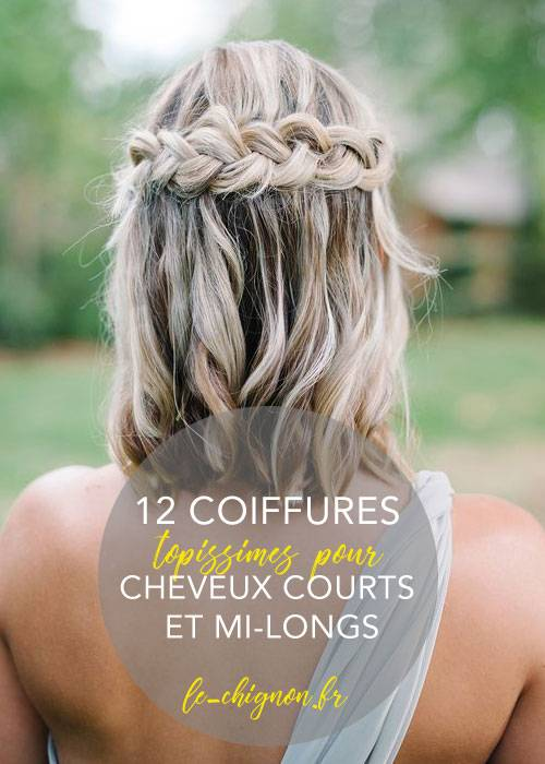 12 coiffures pour cheveux courts et mi,longs \u2013 2018